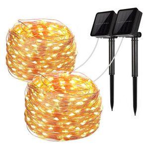 Solar String Fairy Lights 100 200 Leds Waterproof Outdoor Garland Solar Power Lamp Newyear wedding Christmas for Garden Decor