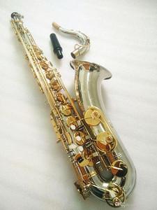 Brand New Tenor Saxophone Silvering Professional Tenor Tenor Sax Placcato con custodia Cappotto a collo del collo