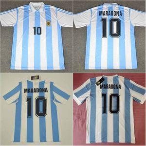 1978 1986 1994 Argentina Soccer Jersey Diego # 10 Maradona Retro Versão 86 78 94 Maradona CanigGia Batistuta Camisa de Futebol