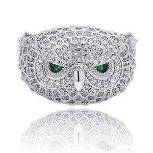 Hip Hop Owl Ring Cubic Zirconia Cool Nighthawk Ring for Men Women Hip Hop Rapper Jewelry