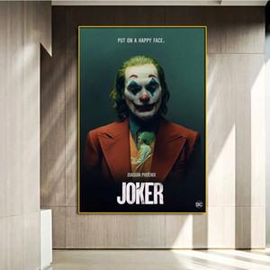 Clássico O Cartaz de Filme do Coringa Imprime Joaquin Phoenix Figura Canvas Pintura de Óleo Imagem de Imagem para a sala de estar Decoração de casa