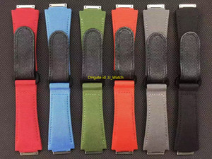 Nylon Watchband Canvas Watch Bracelet 27mm Wristwatches Band Bottom Is Genuine Leather Watch Strap For Z Factory RM3502