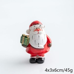 1pc Miniature Christmas Snowman Santa Claus Fairy Tale Garden Miniature Fairy Tale Character Accessories Terrarium Statue Decoration