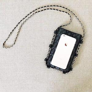 2021 Yeni Moda Telefon Kılıfı Kadınlar Rhombus Kozmetik Çantası Cep Telefonu Çanta Zincir Saklama Çantası Bayanlar Için Vintage Öğeleri VIP Hediye Toplamak