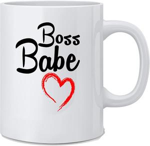 Boss Babe Mug - Funny Women Employee Novelty Coffee Mug 11 oz