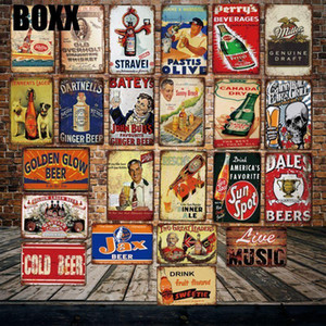 COLD BEER MIller LIVE MUSIC Metal Tin Signs Posters Vintage Painting Bar Wine Custom Decor