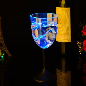 Cocktail Wine Glasses Transparent LED Light Luminous Cup Champagne Beer Wine Drinking Glass for Party Bar