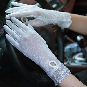 sunscreen gloves women's thin long ladies touch-screen gloves satin long sexy for women driving