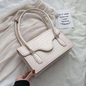 2020 new brand fashion luxury women White Shoulder Bags For Women 2020 Simple Stone Pattern PU Leather Handbag Female Handbag for Lady Totes