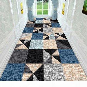 Nordic Long Stier Carpet House House House Ballway Carpet Corridor Ковровое покрытие Отель проход на полу коврик прикроватный входные ковры длинные