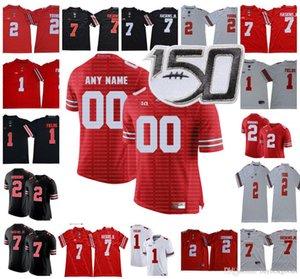 Custom Ohio State Buckeyes Osu Football Football Fields Jersey Dobbins Olave Jeune Teabine Burron Fiesta Bol 150ème Blanc Red Gris Black Camo Jersey