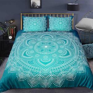 Bohemian 2 3pcs Boho Mandala Bedding Set Twin Queen King Size Comforter Duvet Quilt Cover and Pillowcase Soft Bedclothes