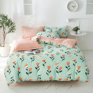 cartoon flower bed linen for adult kids bedding set queen single twin king size duvet cover bed sheets and pillowcases