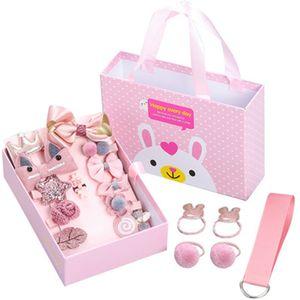 18 Piece Hair Clip Set Baby Hair Accessories Girl headwear Cartoon Elastic Headdress Girl's Gift Headband Birthday Gift Y1125