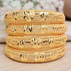 Annayoyo 4 stücke Indien Äthiopisches Armband Armreifen Für Frauen Arab Äthiopien Afrika Dubai Gold Farbe Bangle Schmuck Geschenk für Frauen 201209