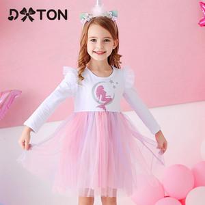 Disfraces DXTON Flying manga invierno de los niños del vestido del tutú de la princesa cumpleaños de la historieta Vestidos de colores para niñas Q1118