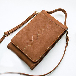 2020 Fashion Vintage Women Messenger Shoulder Straps Bag Purse Wallet Card Holders Women Cellphone Pocket Handbag Clutch