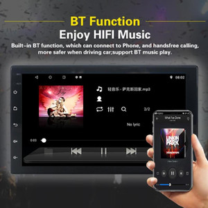 "Bluetooth Double Din In-Dash MP5 4 3 Player with GPS 7"" Touch Screen Android 10.0 FM Radio Receiver car"
