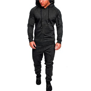 Men's Leisure Sports Suit New Camouflage Hooded Sweater Tra Pants