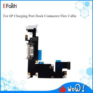Porta di ricarica del caricatore EFAITH Connettore Dock USB per iPhone 6 Plus Cuffie di ricambio Audio Jack Cable Flex Parts Parts