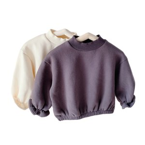 2020 Children's Winter New Flower Corn Sleeve Fleece Sweater toddler boy long sleeve T-shirt F1221