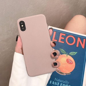 Sile Solid Color Phone Case For One Plus 8 7 6 Pro Soft Cover Candy Color For Oneplus 6t 7t Pro Q jllEWT