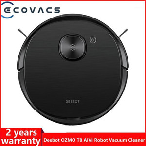 ECOVACS DEEBOT OZMO T8 AIVI Vacuum Cleaner Robot Sweeping APP Function English Speaking China Version 120 Min Long Battery Life1