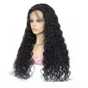 Mifil Water Wave Human Hair Wigs قبل التقطيع عقدة ابيض 13x4 الدانتيل الجبهة الباروكات 4x4 إغلاق الباروكة بيرو ريمي 150٪ الكثافة