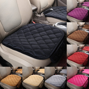 Autumn Winter Cars Seat Cushion Backless Thickening Car Mats With Pocket Rhombus Pattern Non Slip Kit Solid Color 7 5rp G2
