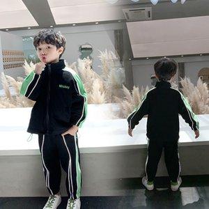 Sports Sports Sports 2020 Весенняя Одежда Новый Детский Повседневный Стиль Инострая Стиль Двухструктура Детская Корейский Верхний и Брюки Мода