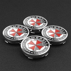 4pcs 56 / 60mm Lada Rueda para insignias Tapas Umbrella Corporation Emblem Hub Sticker Decal Center Toyota Car Ford Audi BMW Suzuki Kia Fukjm