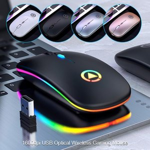 2.4GHZ LED Rechargeable Mouse Wireless Silent Backlit Mice USB Optical Ergonomic Gaming Mouse PC Computer For Laptop PC1