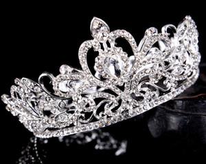 2021 Pageant Quinceanera Düğün Taçlar Kadınlar için Bling Rhinestone Boncuk Saç Takı Gelin Başkanı Tiaras Parti Abiye
