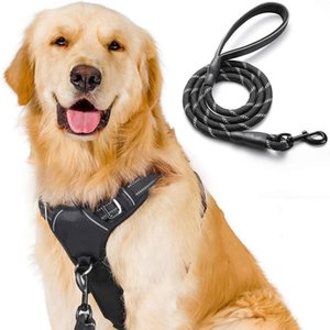 Rabbitgoo No Pull Dog Harness and Leash Set for Dog Collars Adjustable Pet Vest Harness Training Dog Leash For Large Dogs Q1122