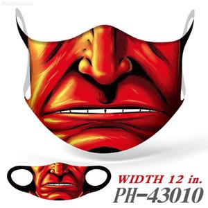 Protection insérable Impression 3D Halloween Réglable Bouche de Noël Cheval de Noël Courreuse à oreille anti-poussière et brume Masque anti-poussière