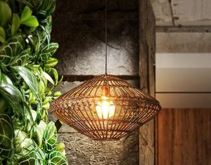 Southeastern Vine Pendant Lamps Vintage Thailand Rattan Pendant Lights Fixture Home Indoor Lighting Restaurant Restaurant Tea Room Cane Lamp