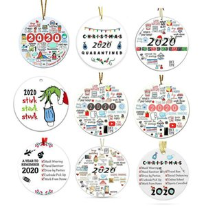 2021 A Year to Forge Remember Grinch Hand Christmas Ornament 2020 stink stank stunk Christmas Decoration With Face Mask Hanging Pendant