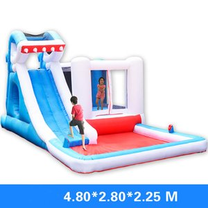 Shark Park Inflatable Water Park Bouncer Inflatable Combo Jumper Bounce House Shark Bouncer with Slide Funny Shark Bouncer with Ball Pool