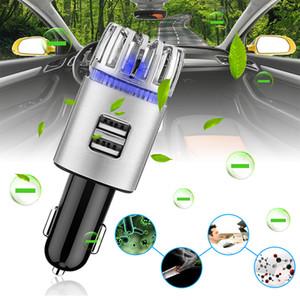 2 in 1 Auto Dual USB Frischluft Ionische Reiniger Sauerstoff Bar Ozon Ionizer Rauchgenerator Für Autos Reiniger Auto Air Ionisierer Reiniger