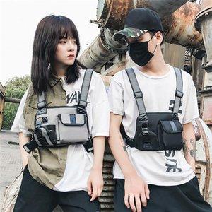Designer-2020 Fashion Chest Waist Bag Front Hip Hop Streetwear Chest Bag Cross Shoulder Bags Functional Package Bolso #40