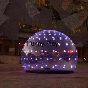 inflatable christmas led bubble global ball shopping mall sign outdoor decorations light nflatable bubble ball globle balloon Z1123