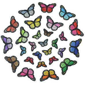 Mariposa Shepe parches de bordado Custom Swill Hierro en la ropa Patch Bordery Coser para la ropa Patch de bordado de alta calidad