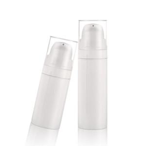 Hotting 15ml 30ml 50ml PP Blanco Airless Press Pump Lotion Botella de plástico Airless Cosmetic Serum Bottle Free Ship