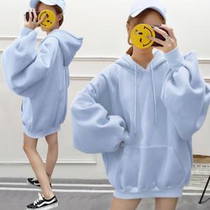 Hoodie women's 2020 autumn and winter new fat mm loose large size plus velvet long-sleeved jacket sportswear women1