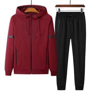 Spring Autumn leisure sports men big size sweatsuits men's sportswear oversized jogger suits cotton men sweat suit set 8XL 9XL
