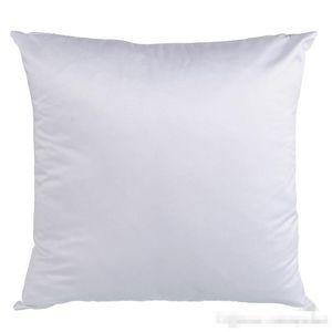 Sublimación en blanco Peach Piel Piel de la piel Transferencia de calor Impresión en blanco Melocotón blanco Flannellette Casos de almohada Consumibles 40 * 40 cm 45 * 45cm
