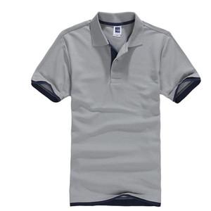 클래식 짧은 소매 티셔츠 남성 여름 캐주얼 솔리드 티셔츠 통기성 럭셔리 코튼 Tshirt 유니폼 골프 테니스 남자 카메인 탑스 LJ200827