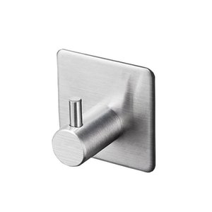 Black Robe Hook Towel Hook for Bathroom Stainless Steel Coat Hook Rustproof Hanger for Kitchen Hardware