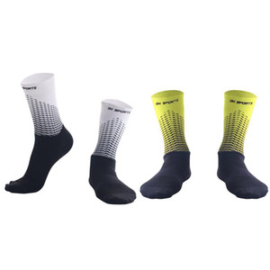 2pcs Functional Fabric Antislip Bike Socks Bicycle Compression Sport Sock Breathable Men Women Street Sports Racing Cycling Sock