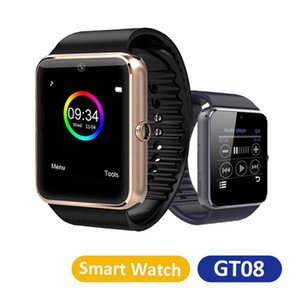 GT08 Bluetooth Smart Watch with SIM Card Slot For Android Smartphones NFC Health Watches with Retail Box